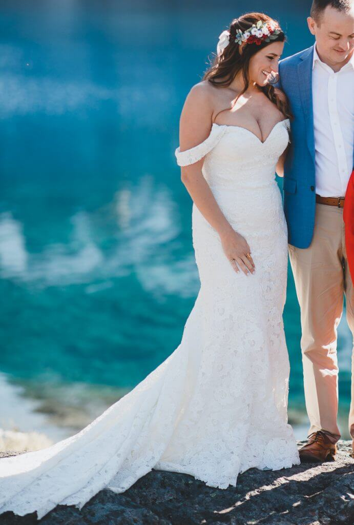 Brides can customize a boho fit and flare or mermaid wedding dress at Anomalie Online Wedding Dresses.