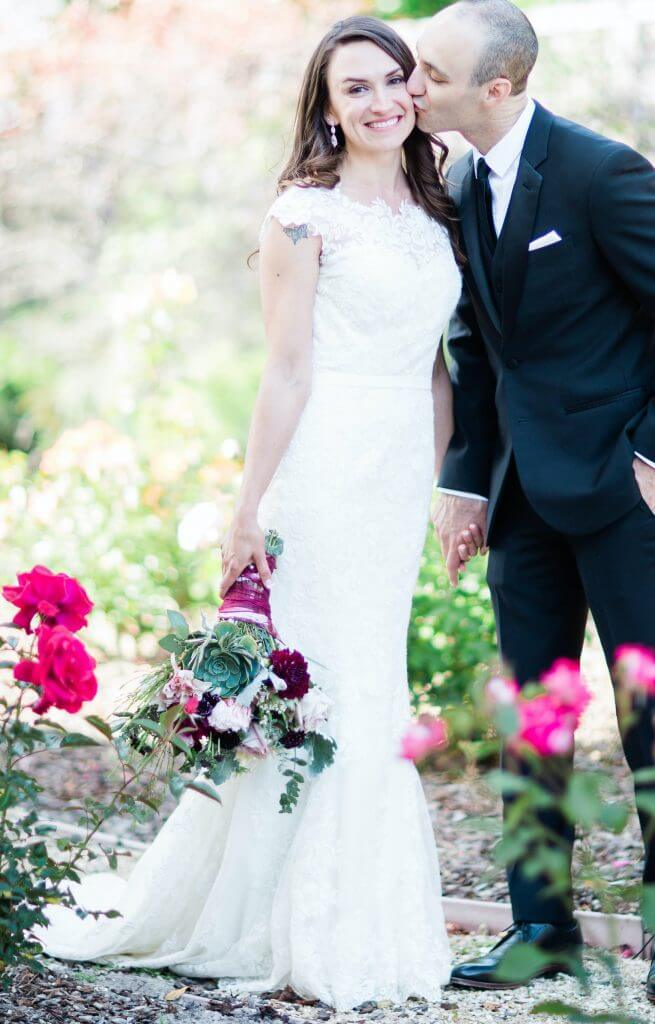 Brides can customize fit and flare or mermaid wedding dress with a high neck and fitted skirt at Anomalie Online Wedding Dresses.