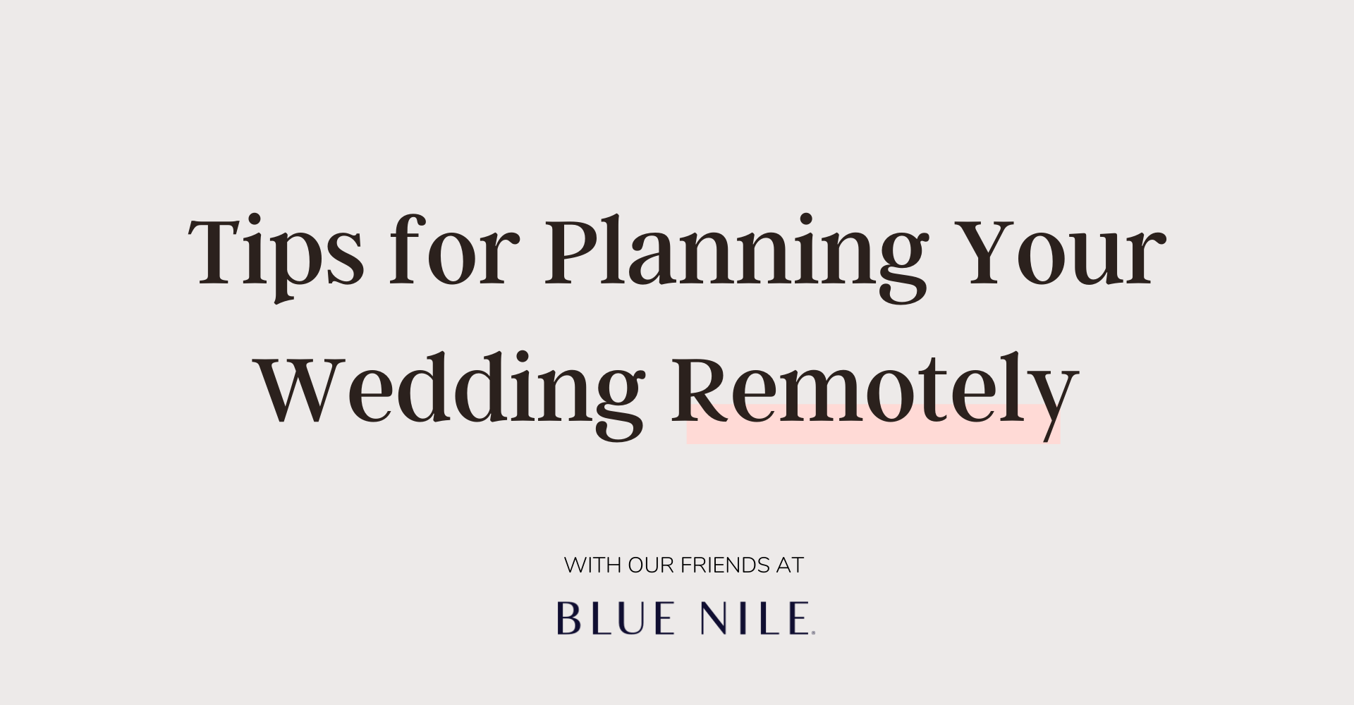 Tips for Planning Your Wedding Remotely
