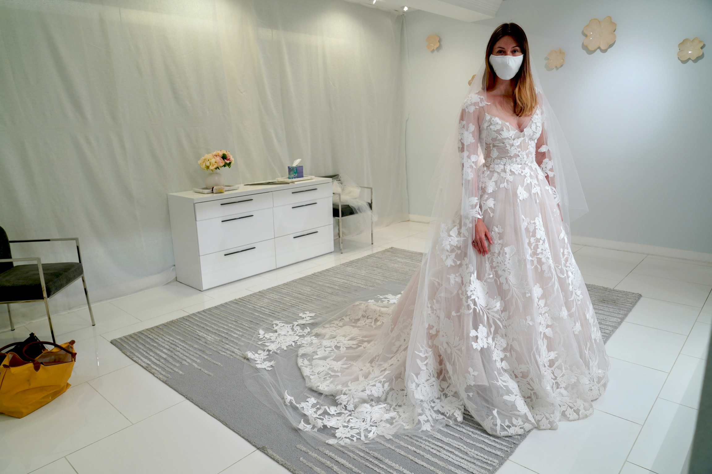 How to Shop for a Wedding Dress During the COVID-19 Pandemic.