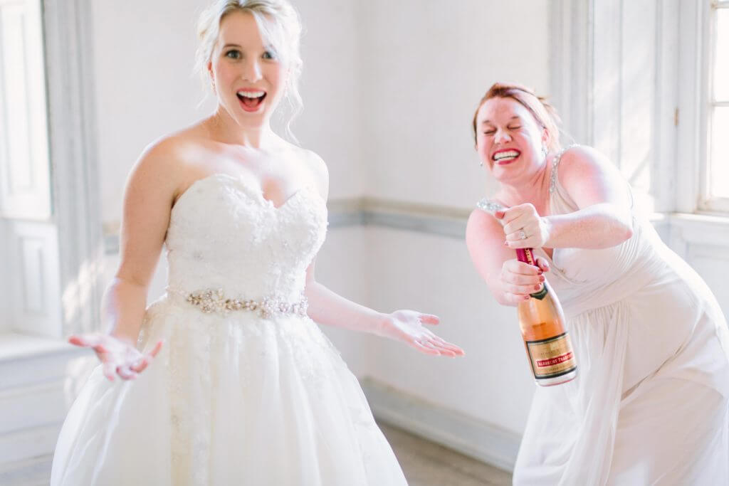 Don't be afraid to pop the champagne!