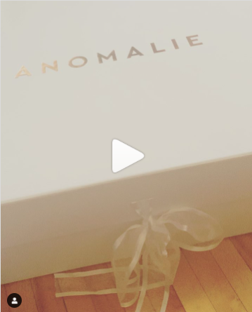 Opening the box with the dress | DressAnomalie