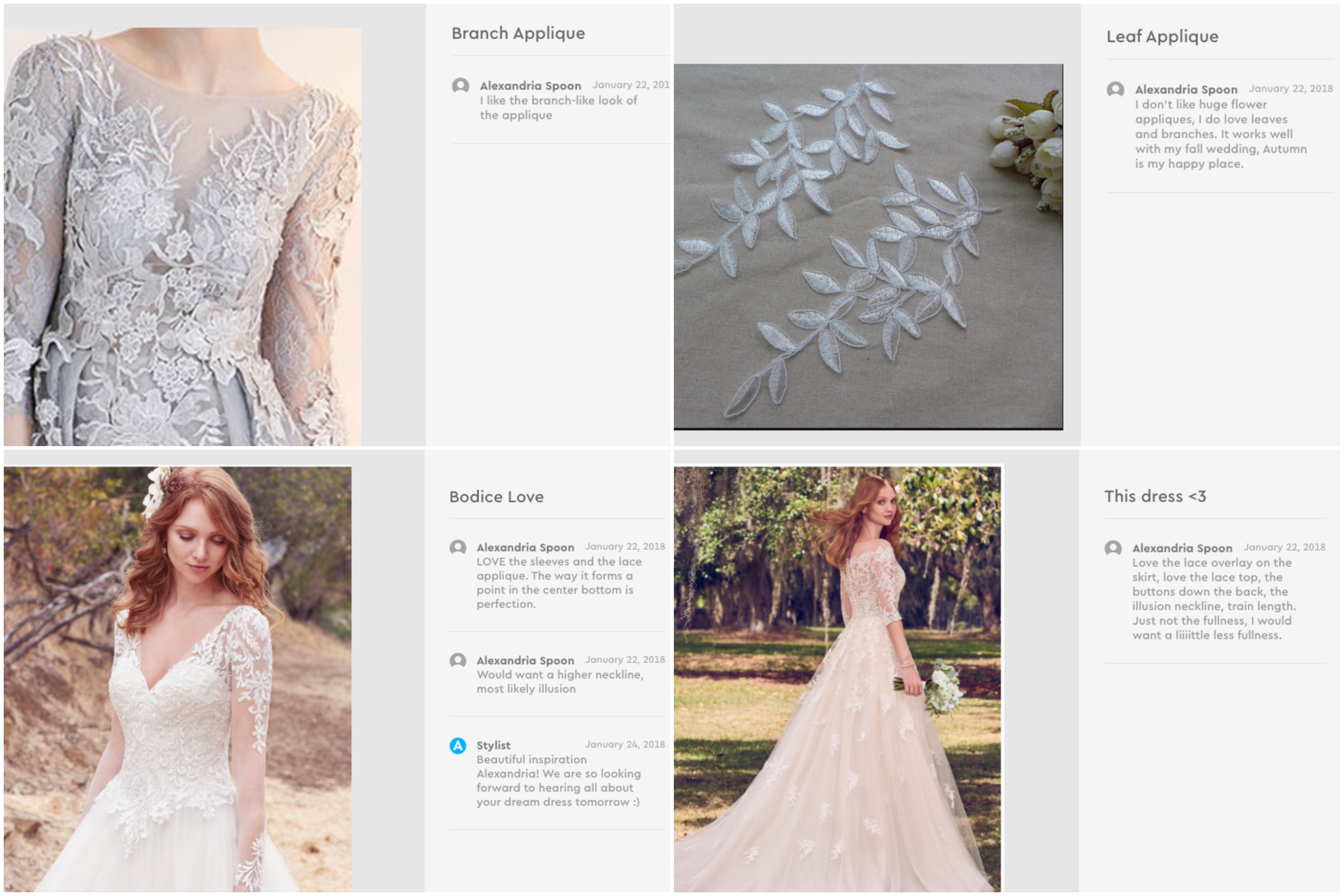 Anomalie online wedding dress, a-line, long-sleeves, custom design