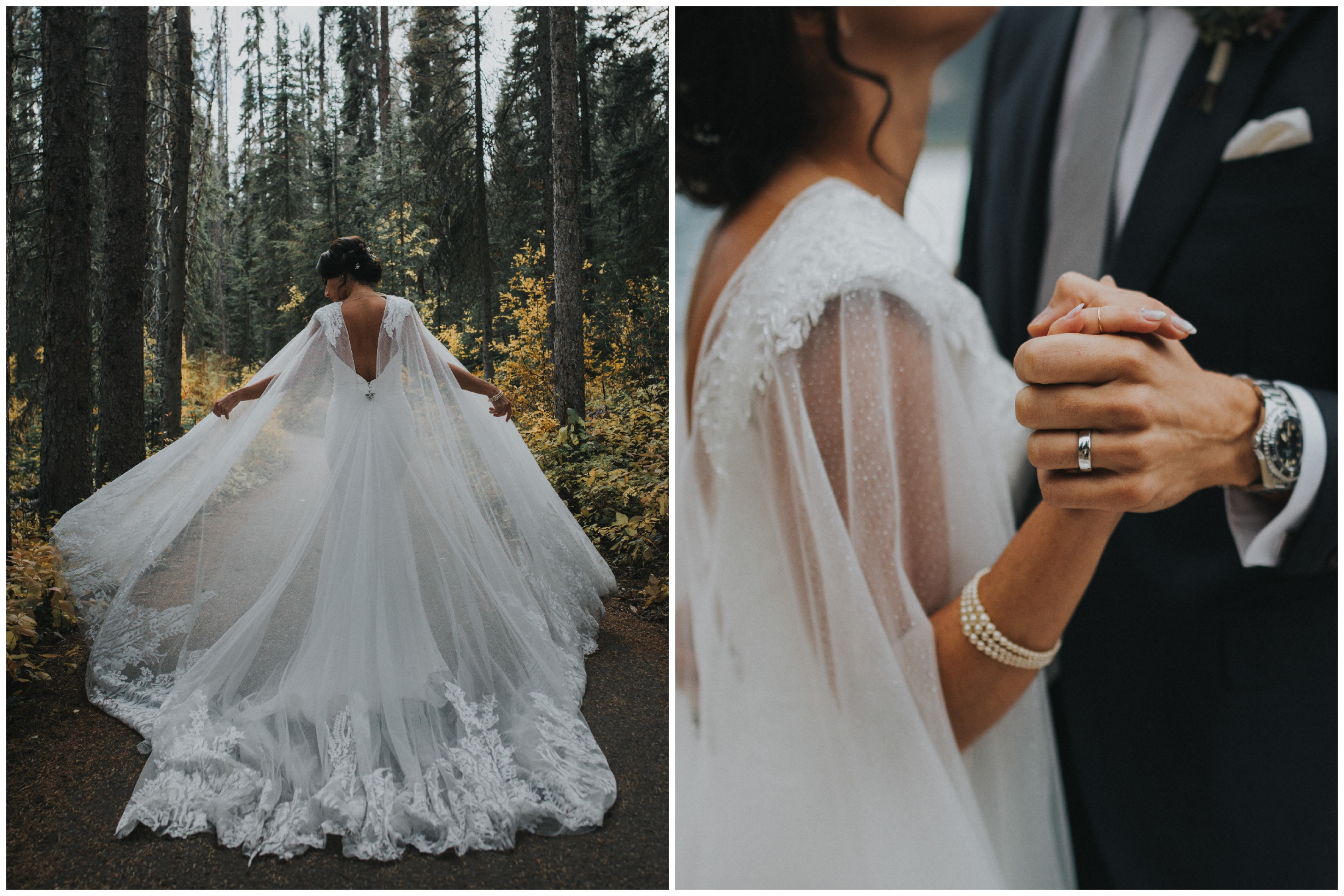 Isabelle chose a silver sparkle tulle cape with a scalloped edge