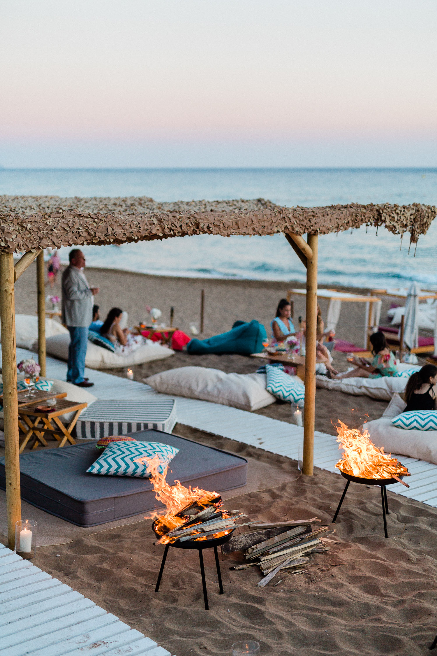 Lounging area at the beach.