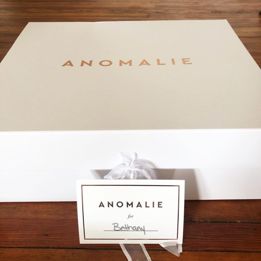 Personalized card with our branded box | DressAnomalie