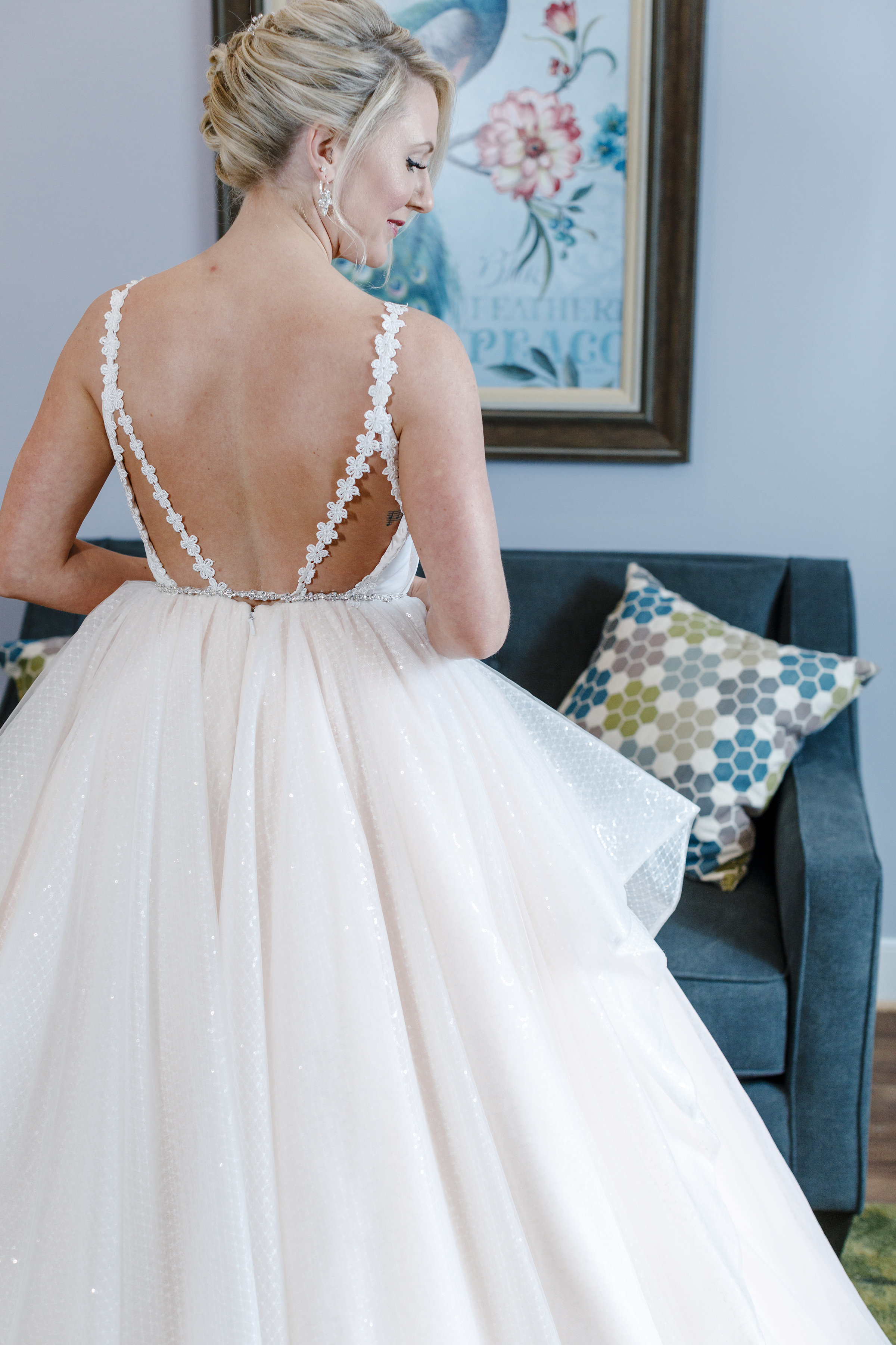 Sabrina finally reached out to Anomalie for help designing a custom gown.