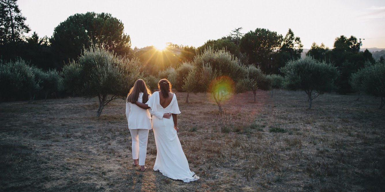 Big Sur wedding for Anomalie bride in custom silk crepe gown