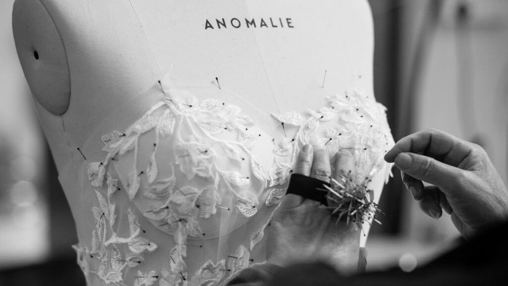 Background on Why Anomalie dresses (and nearly every U.S. wedding dress) are made in China.
