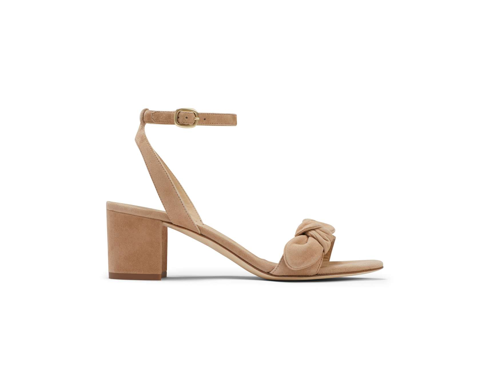 Strappy block heeled wedding shoes by M. Gemi.