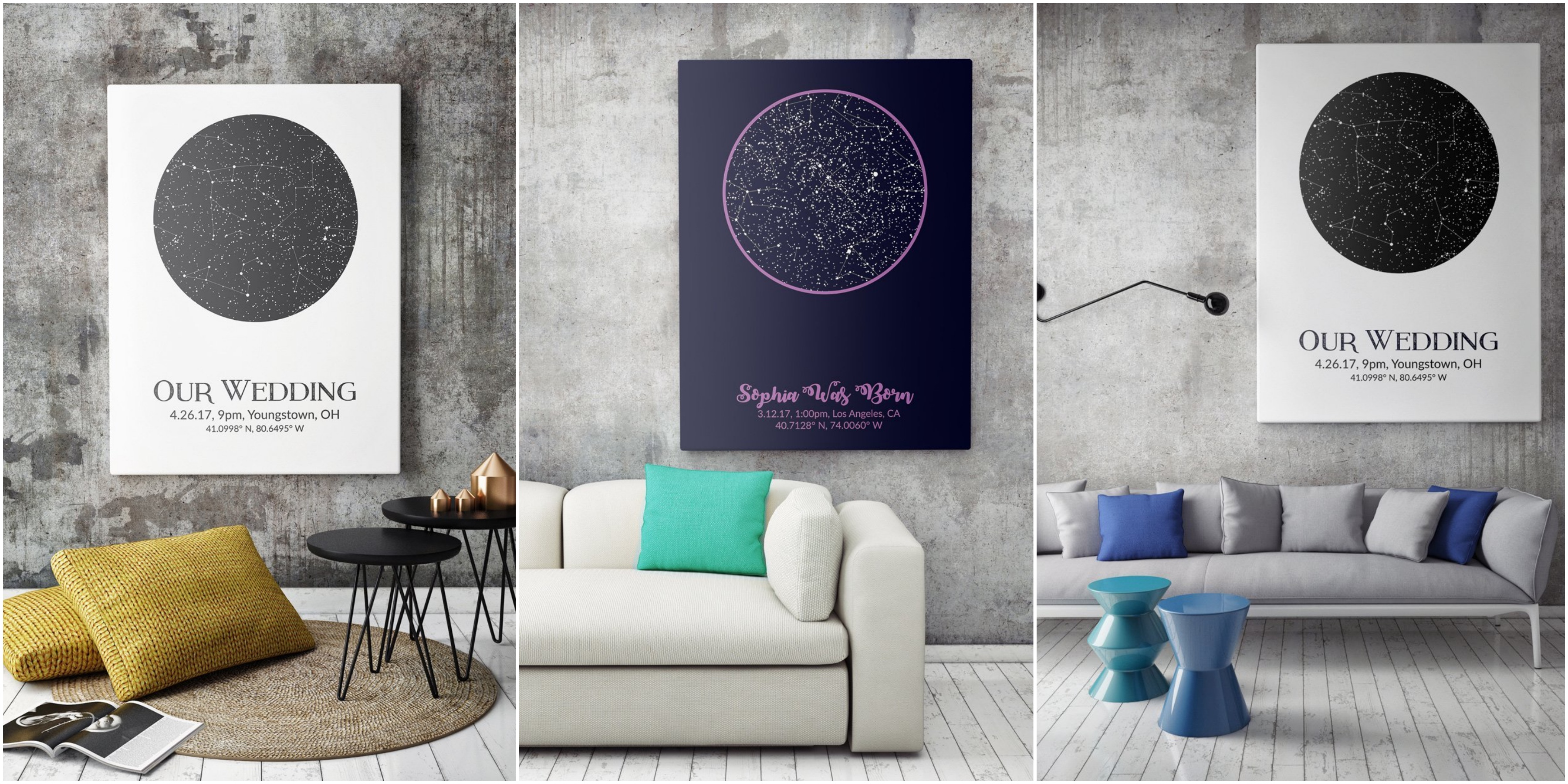 Give the Best Gift That's Not on the Wedding Registry, a Custom Star Map.